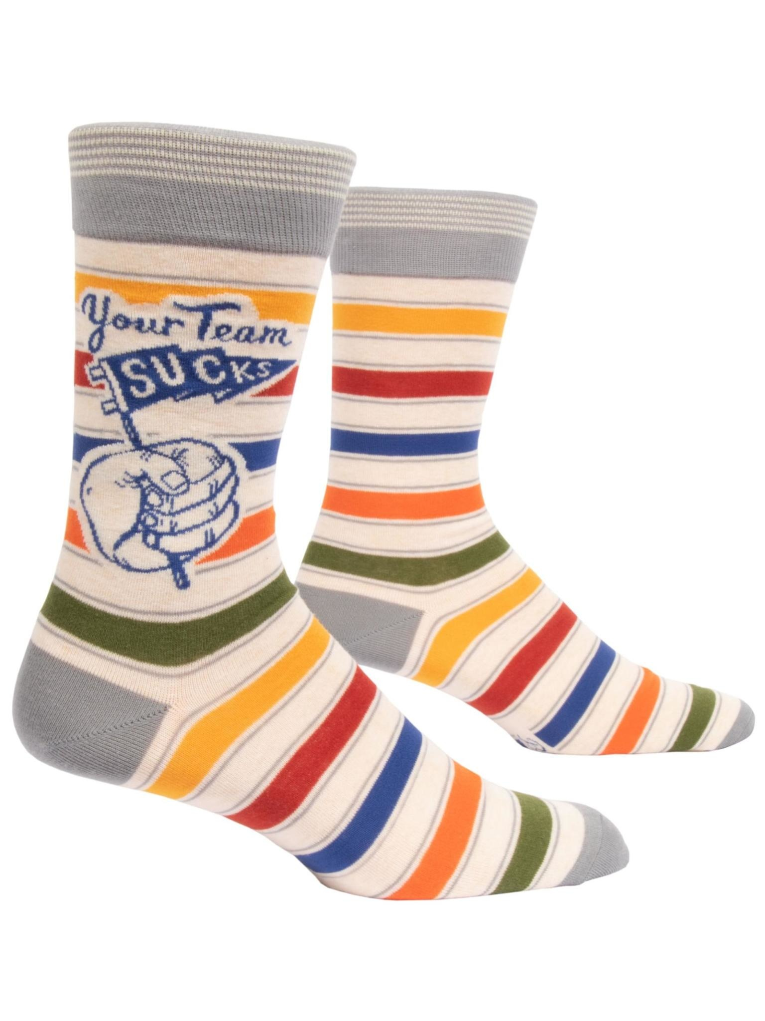 Blue Q Your Team Sucks Men's Crew Socks