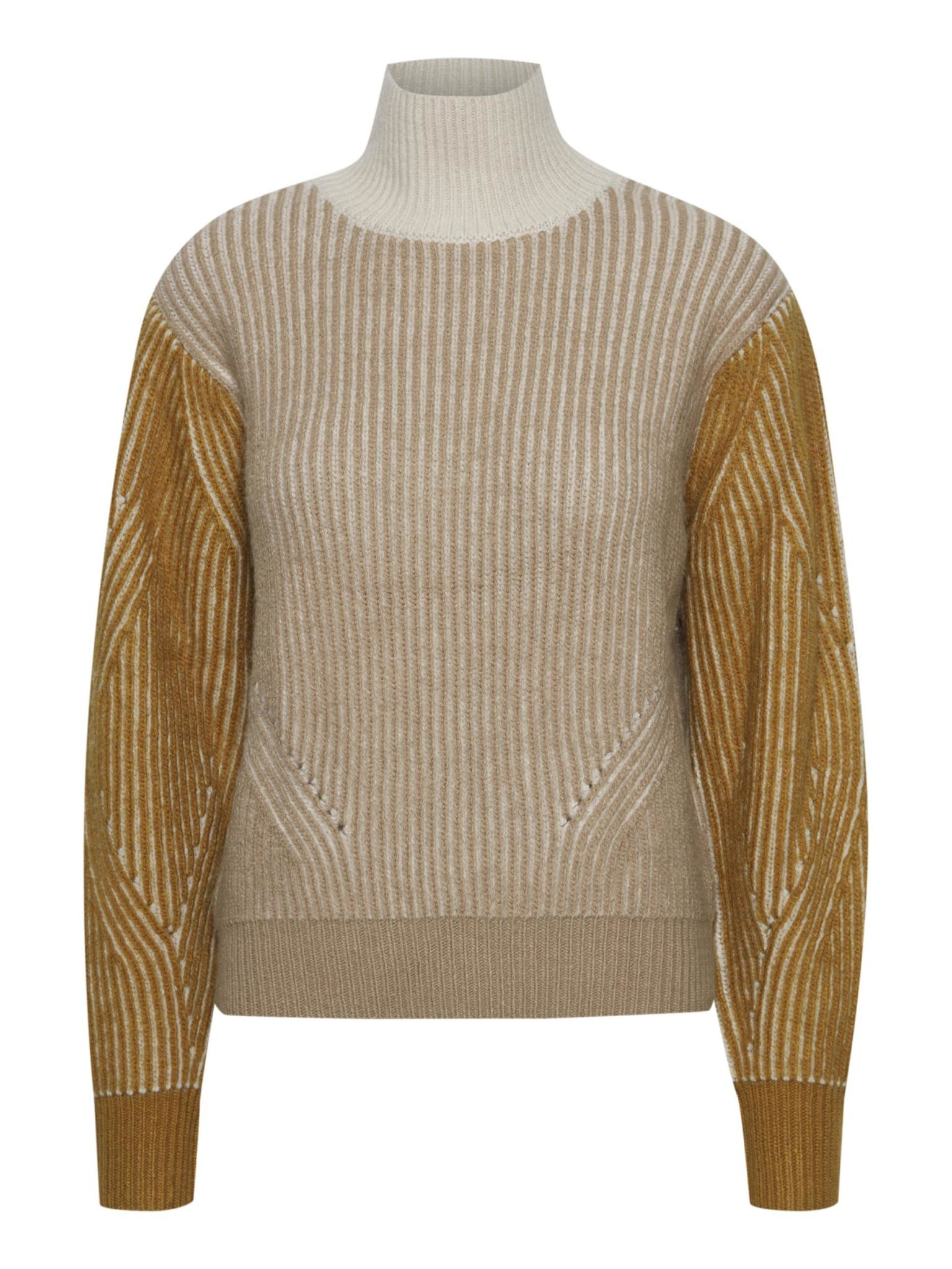 ICHI Maples Knitted Turtleneck Pullover