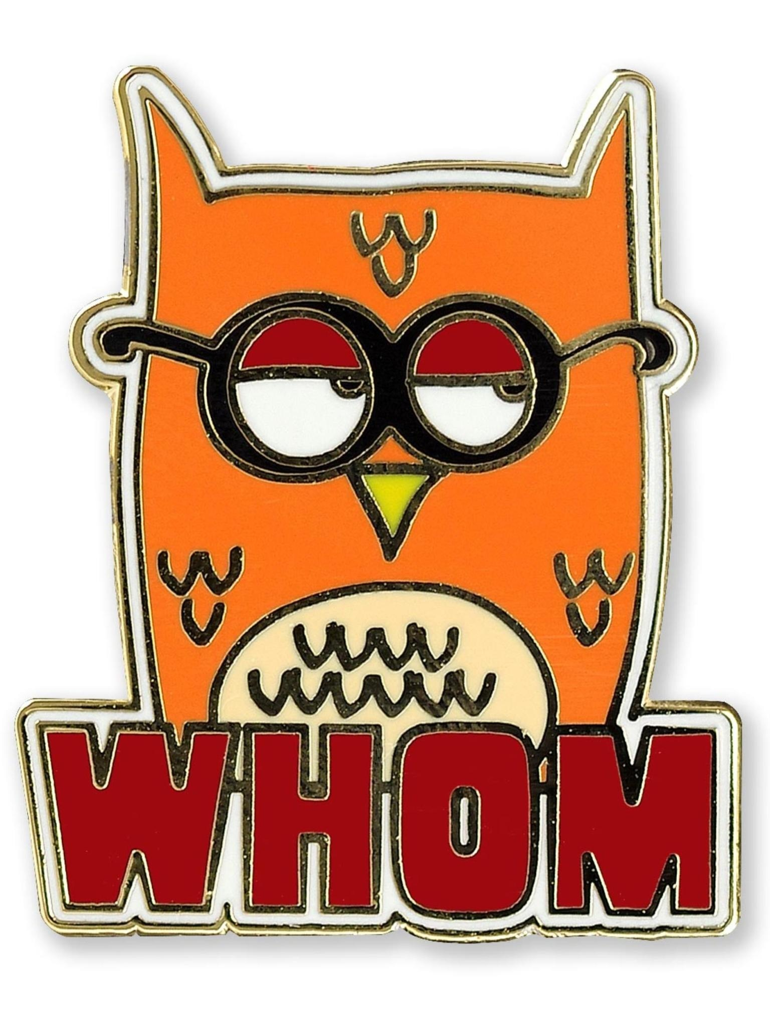 Peter Pauper Whom Owl Enamel Pin