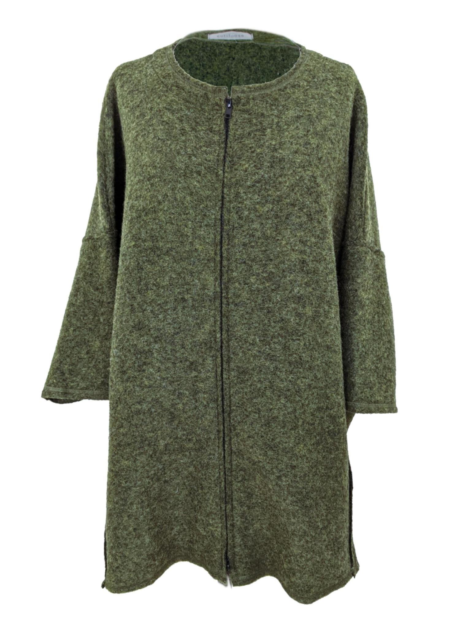 Cut Loose Boiled Wool Zip Jacket
