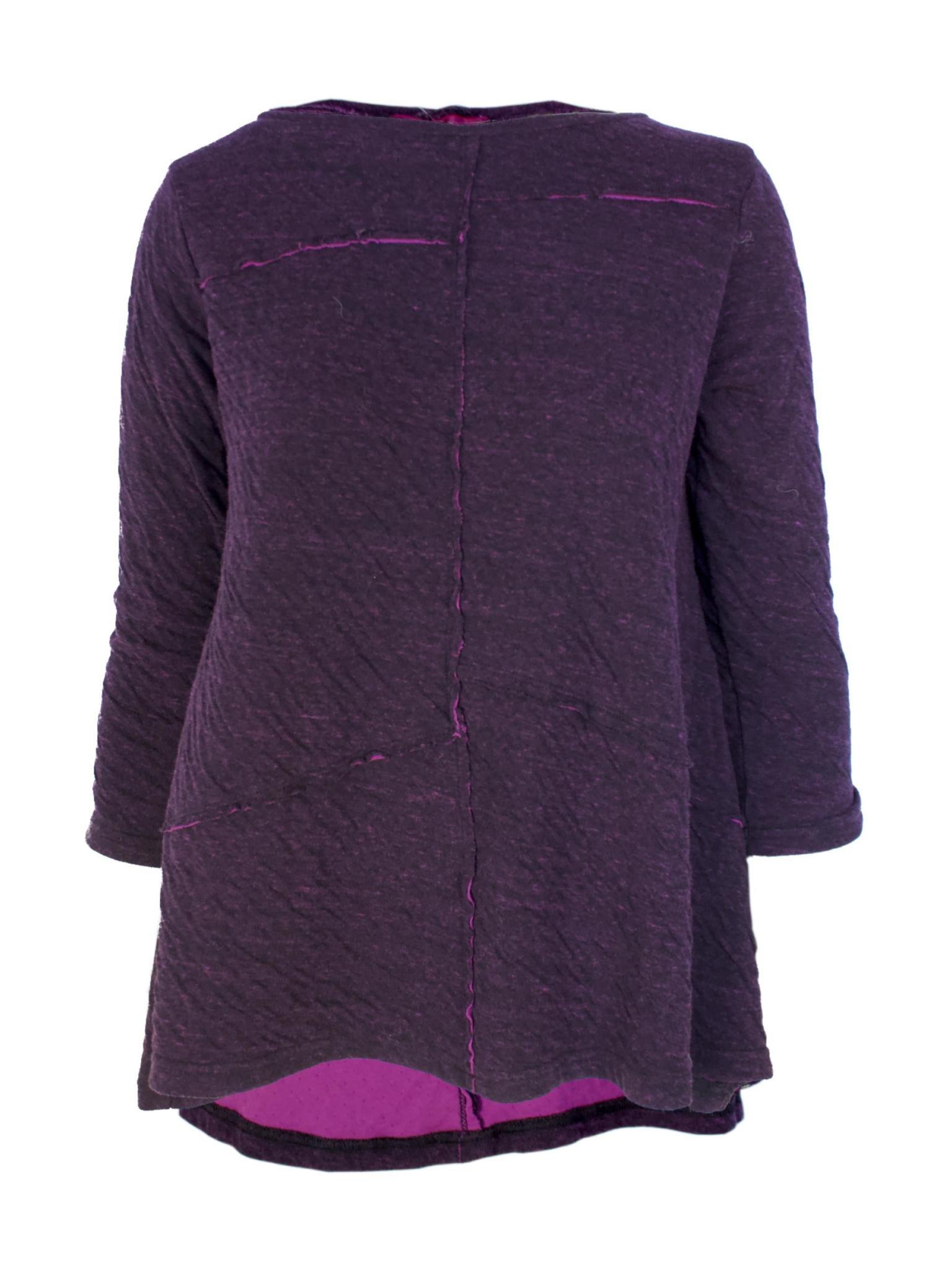Cut Loose Charcoal Double Cloth Peplum Top