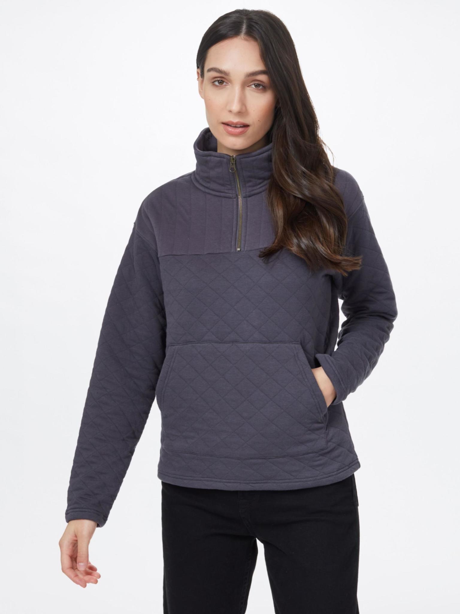 Tentree Women's 1/4 Zip Quilted Fleece