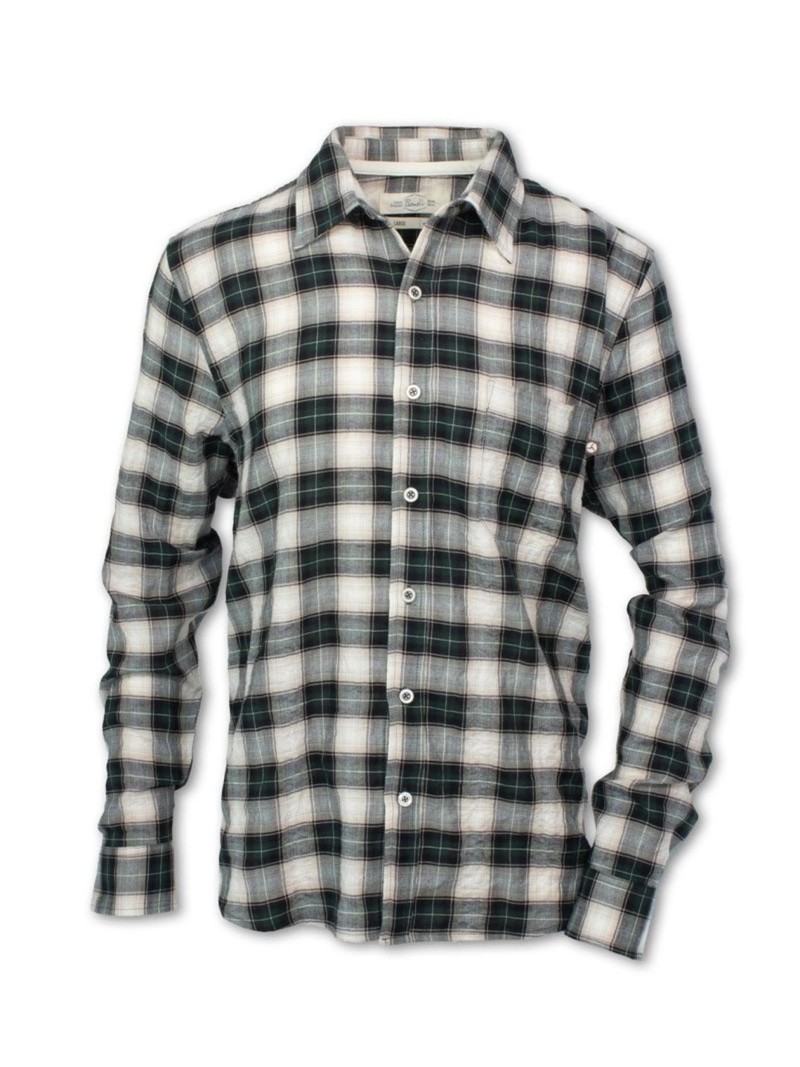 Purnell Men's Vintage Plaid Button-Up Shirt