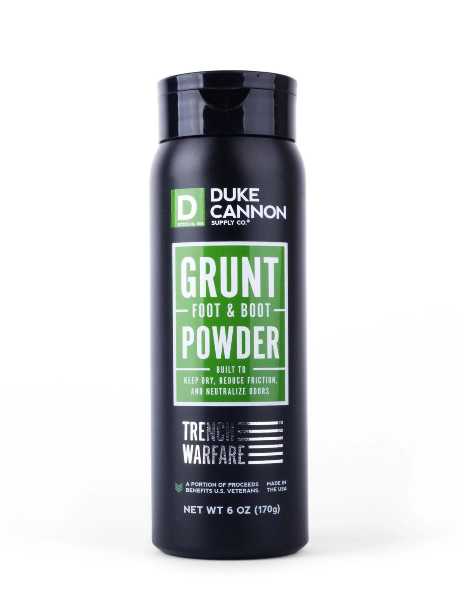 Duke Cannon Supply Co Grunt Foot & Boot Powder