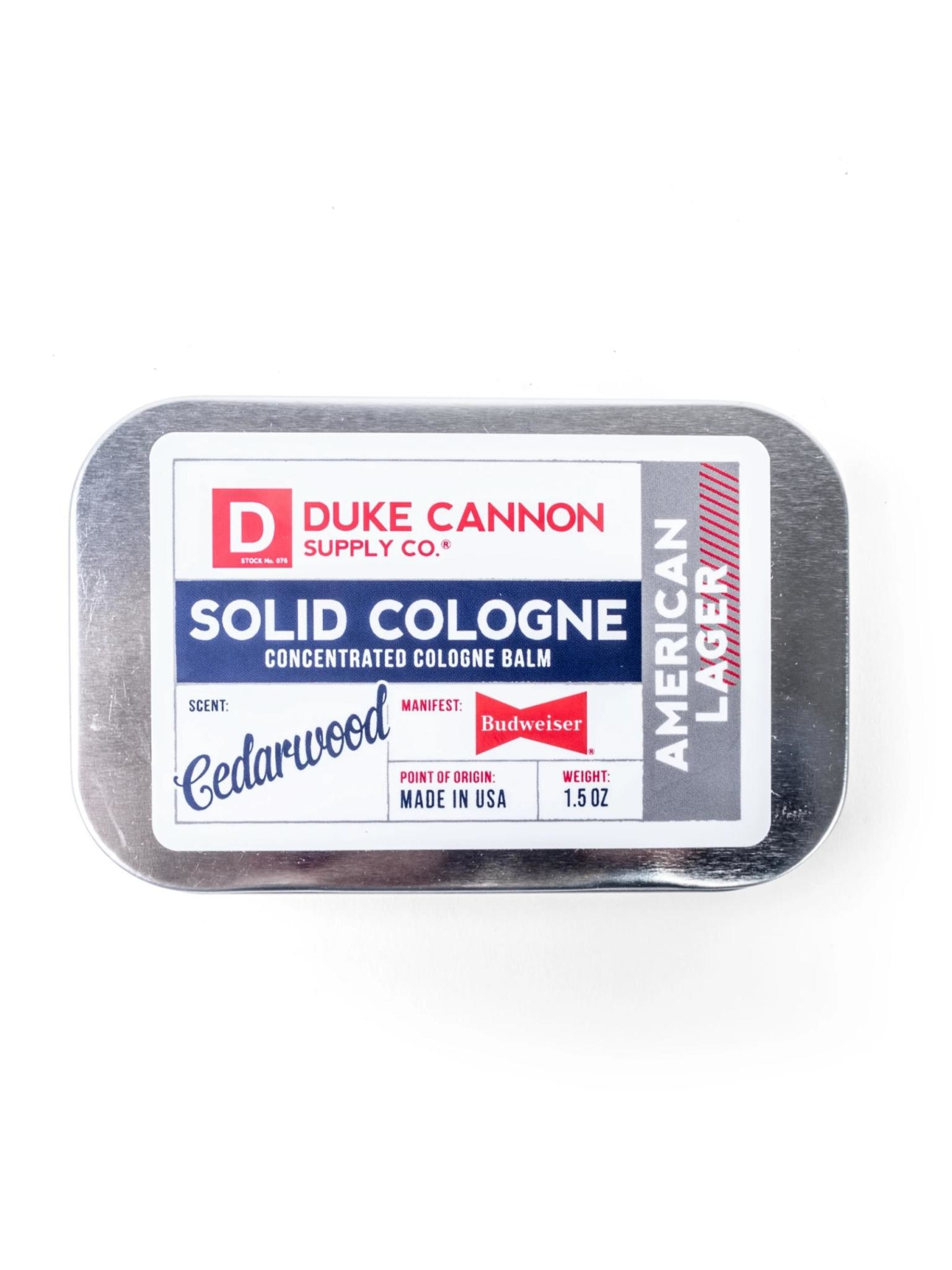 Duke Cannon Supply Co Solid Cologne Great American Budweiser