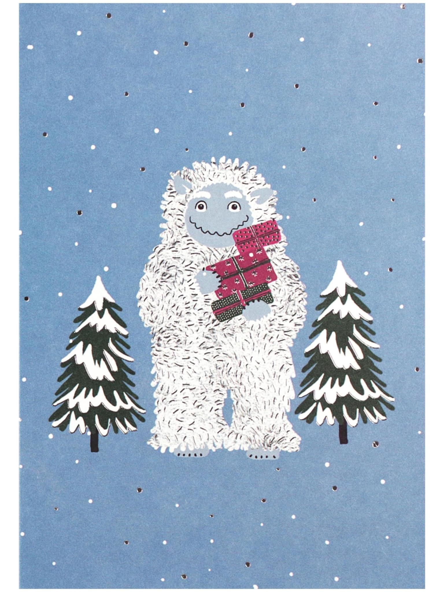 Peter Pauper Yuletide Yeti Boxed Holiday Cards