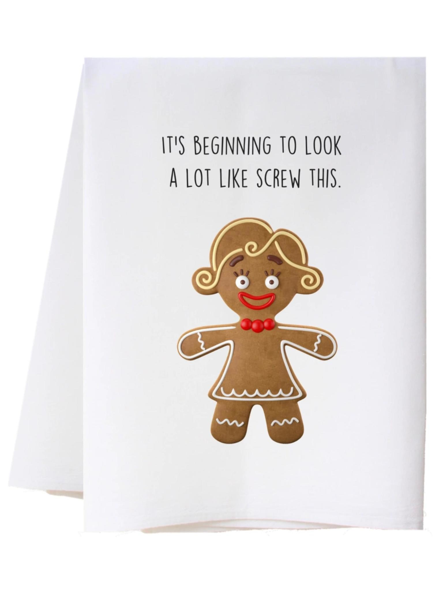 Southern Sisters Screw This Flour Sack Towel