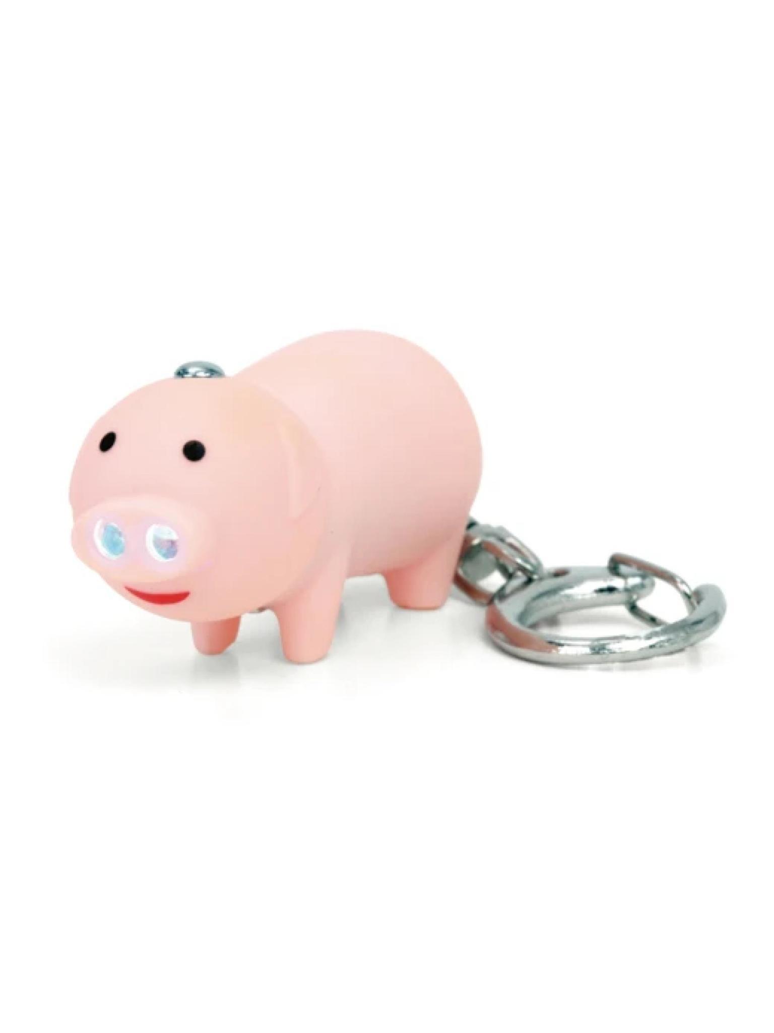 Kikkerland LED Keychain Pig