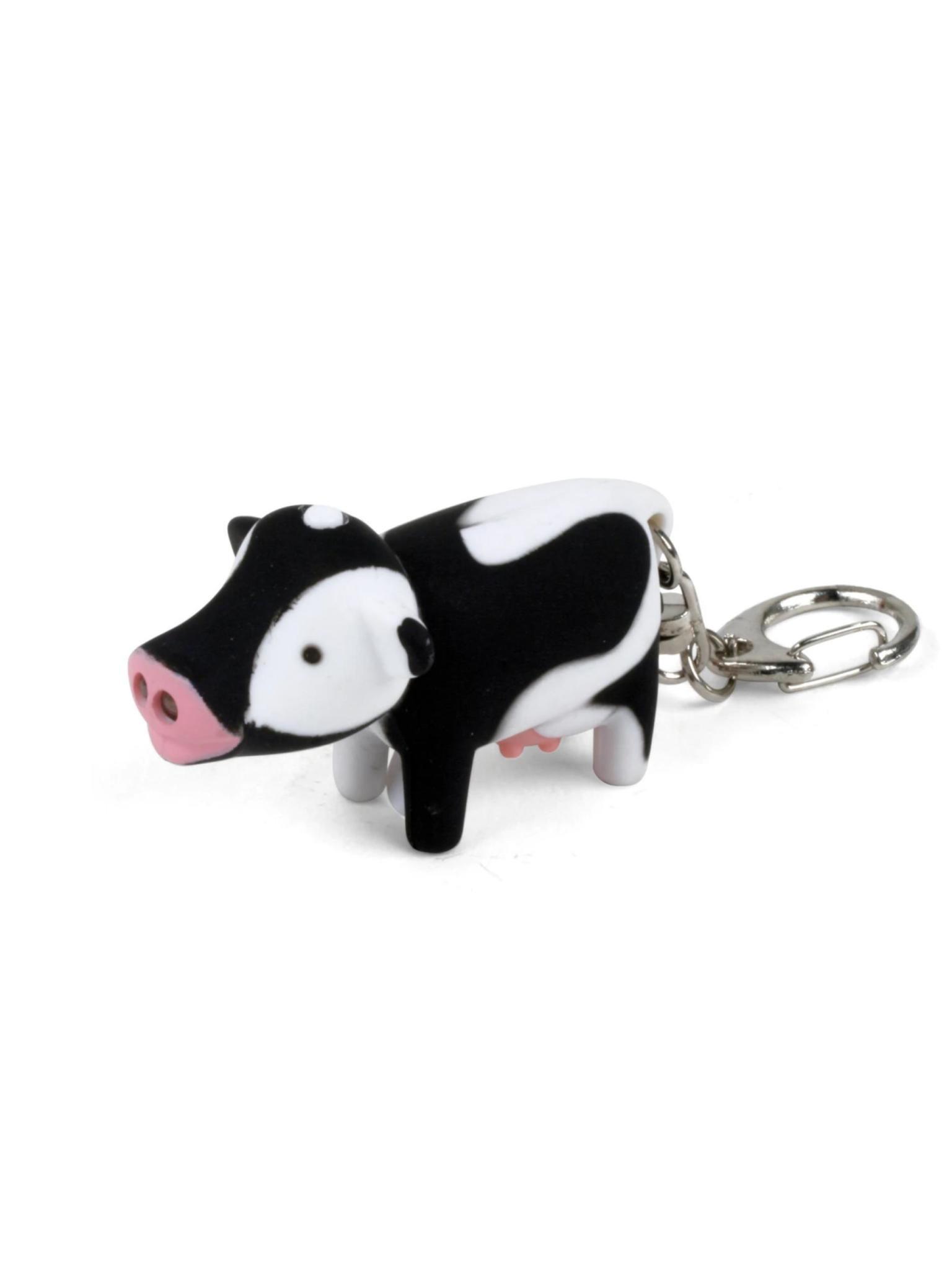 Kikkerland LED Keychain Cow