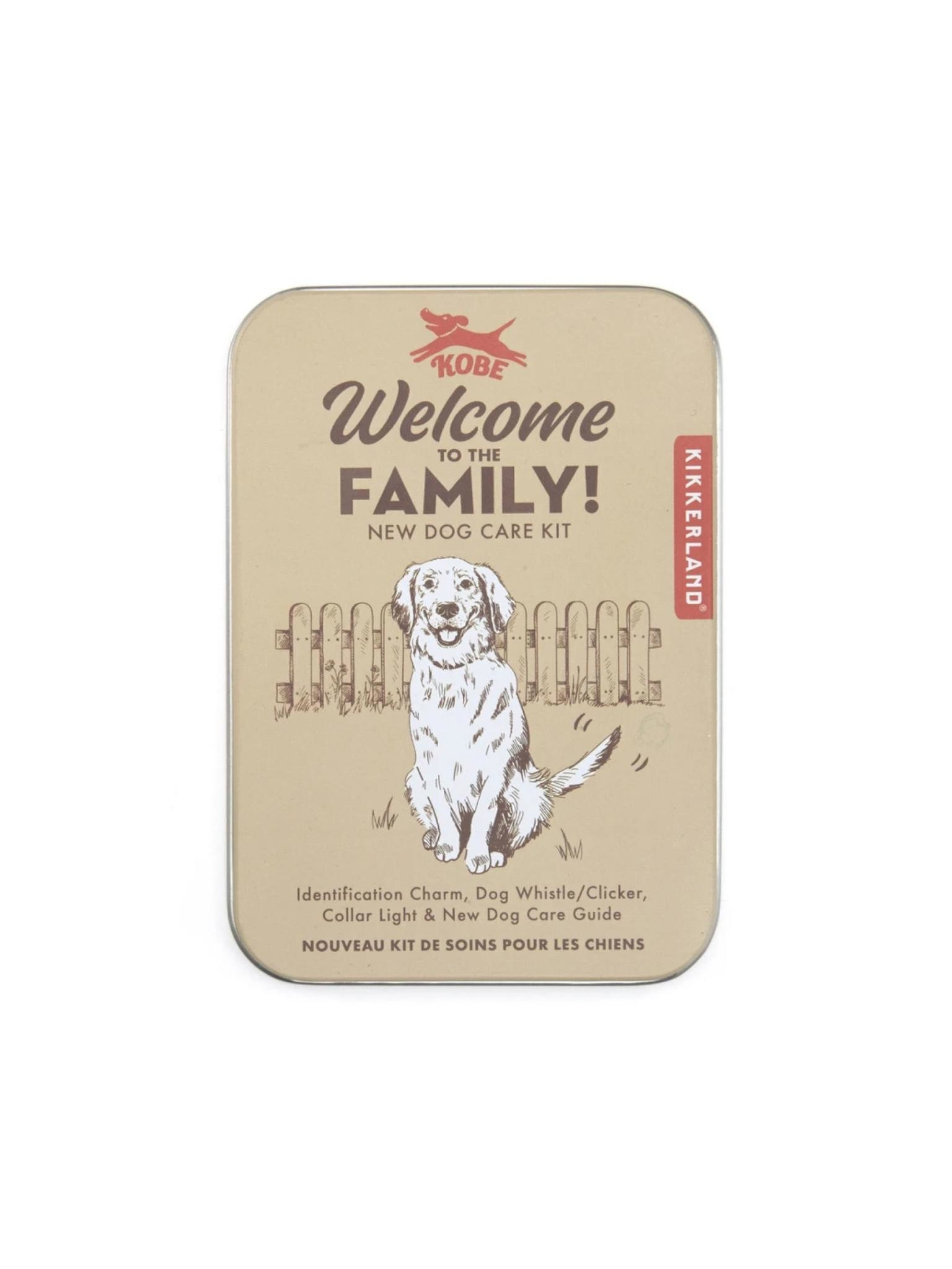 Kikkerland Welcome to the Family Dog Kit
