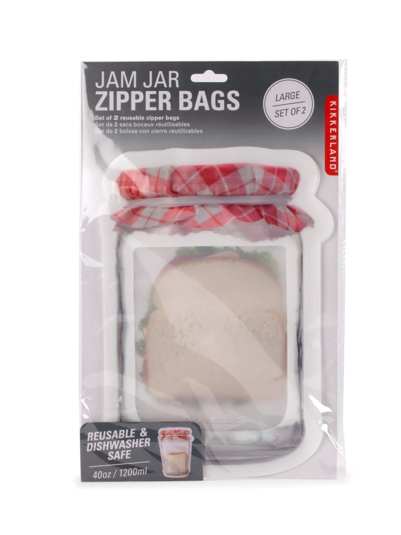 Kikkerland Large Jam Jar Zipper Bag