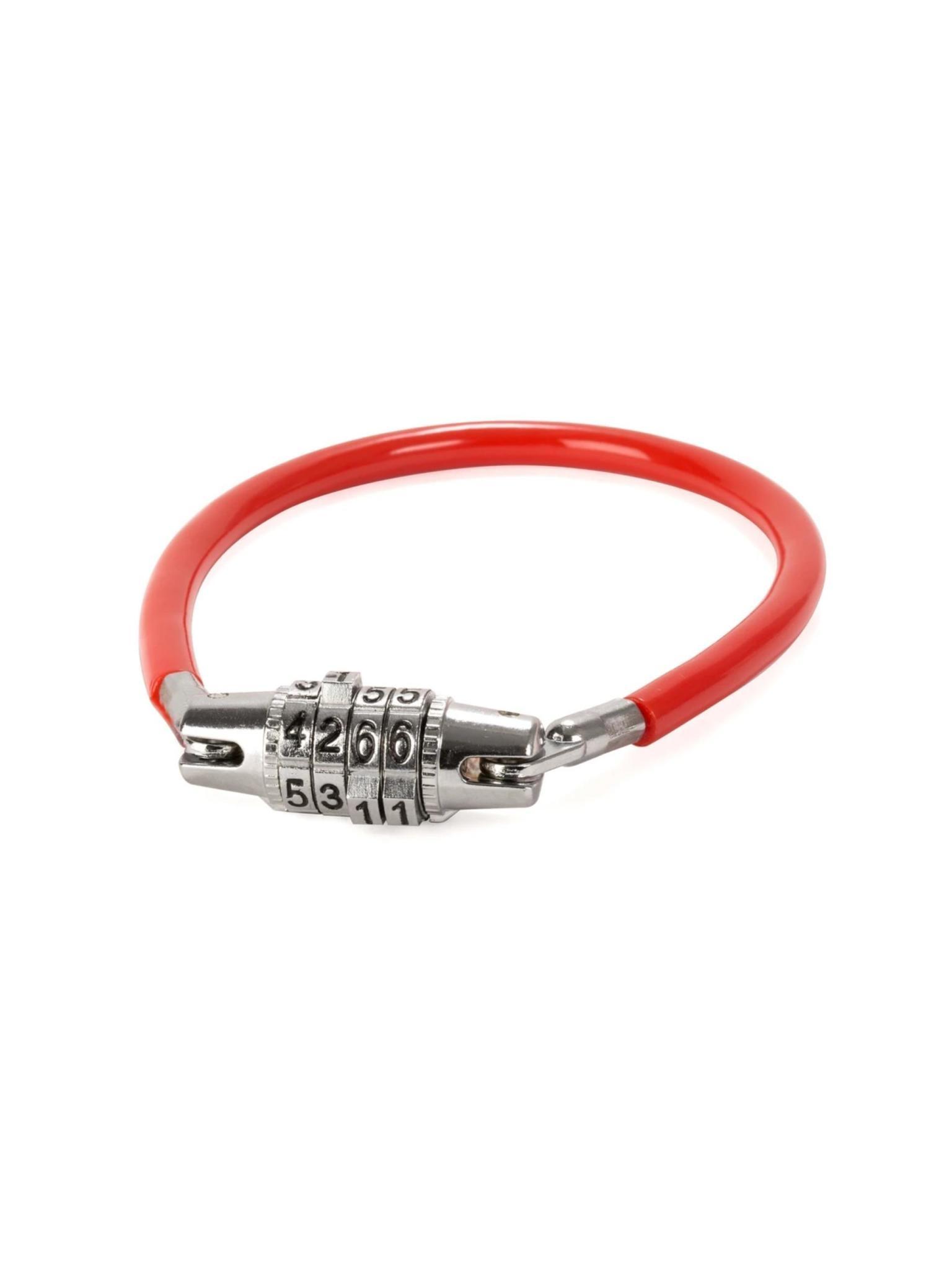Kikkerland Mini Bike Lock Red