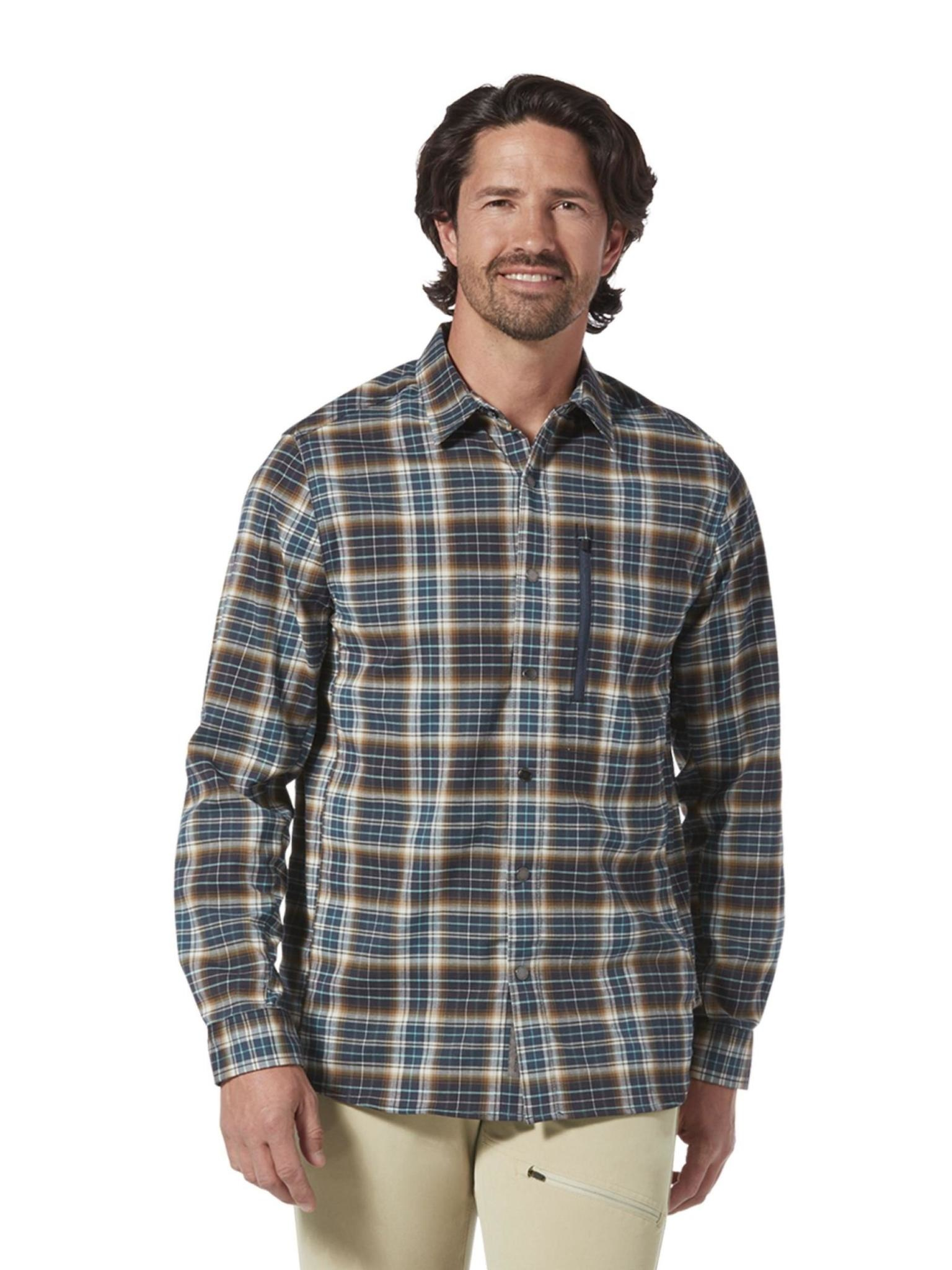 Royal Robbins Men's Thermotech Ren Plaid Long Sleeve Shirt