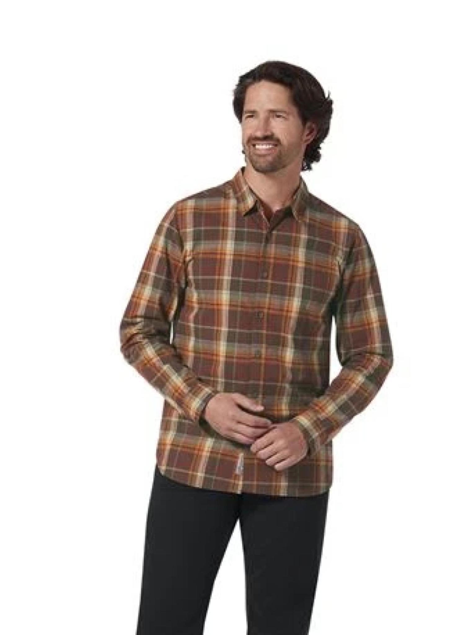 Royal Robbins Men's Trouvaille Organic Cotton Plaid Long Sleeve