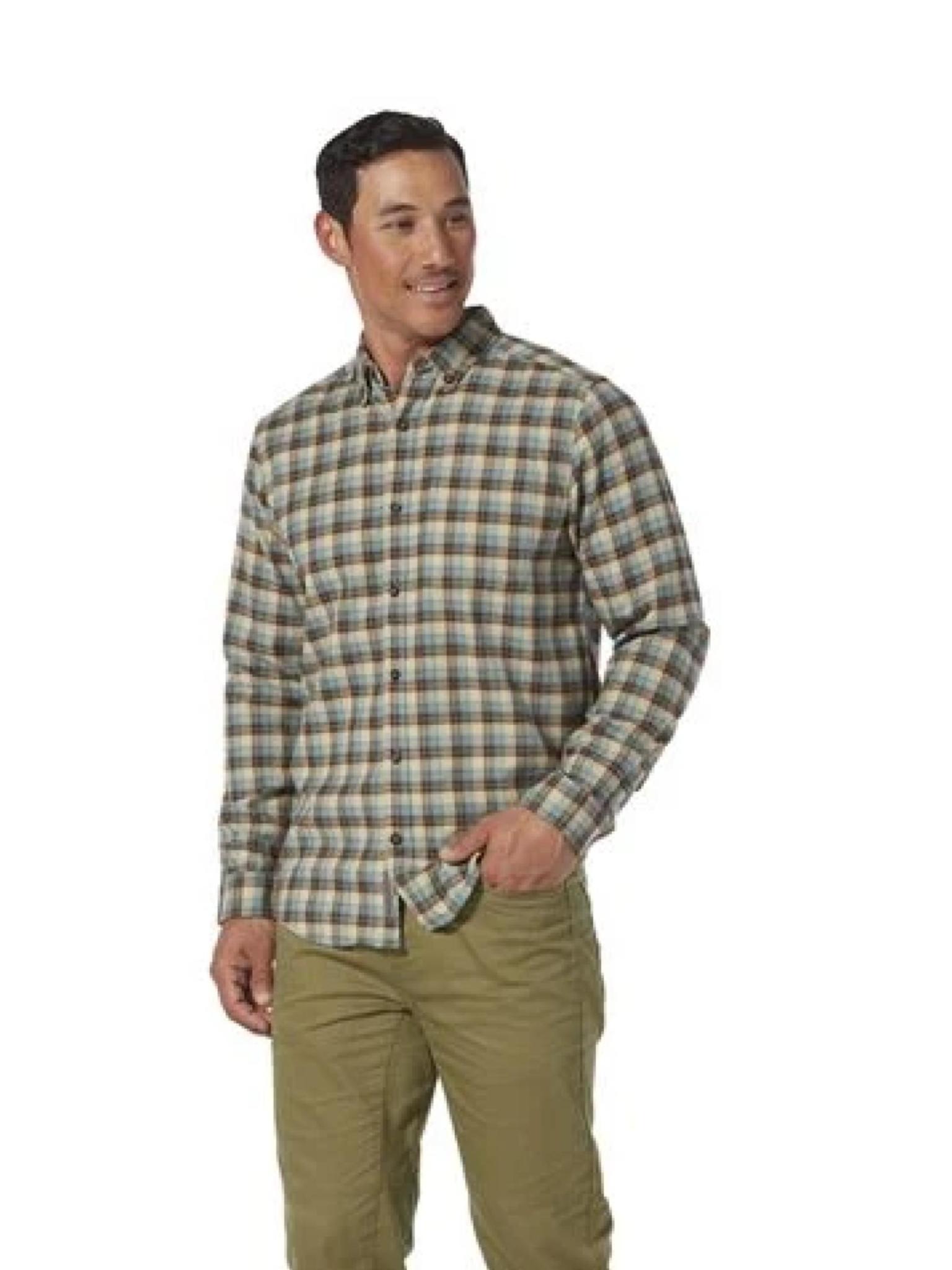 Royal Robbins Men's Lieback Organic Cotton Flannel Long Sleeve
