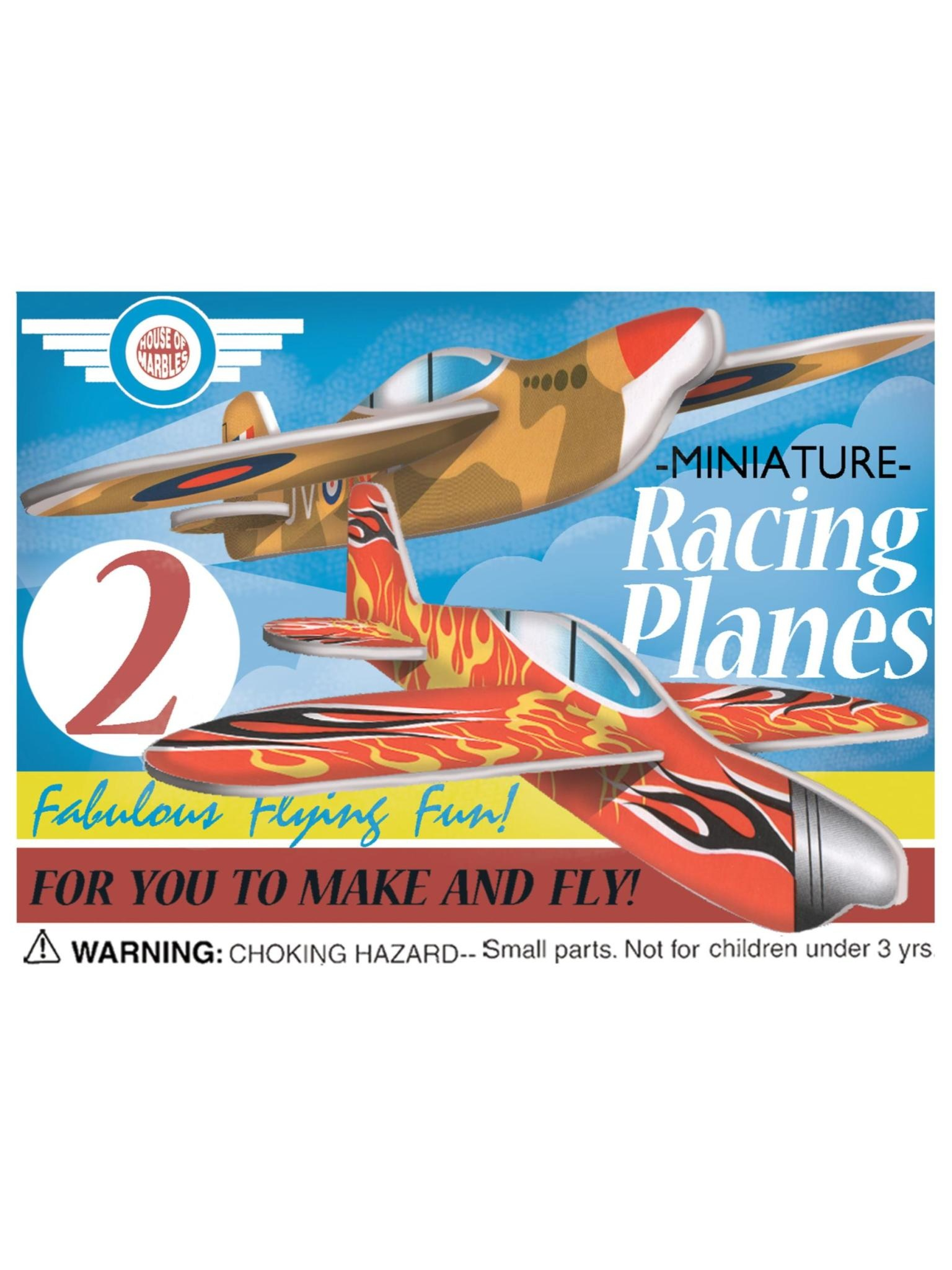House of Marbles Mini Fighter Racing Planes