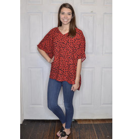 Lyla's: Clothing, Decor & More Wear Red Leopard Print Top