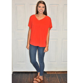 Lyla's: Clothing, Decor & More New Days Ahead Red Top