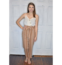 Lyla's: Clothing, Decor & More Listen Girl Striped Jumpsuit