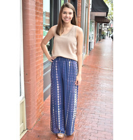 Lyla's: Clothing, Decor & More Take Me With You Navy Print Pants