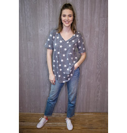 Lyla's: Clothing, Decor & More Starry Nights Print Top