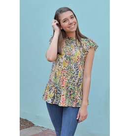 Lyla's: Clothing, Decor & More Where Are You Moss Print Top