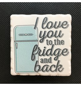 Lyla's: Clothing, Decor & More I Love You to the Fridge and Back Magnet
