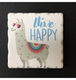 Lyla's: Clothing, Decor & More Live Happy Llama Magnet
