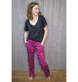 Lyla's: Clothing, Decor & More Wine Pajama Pants