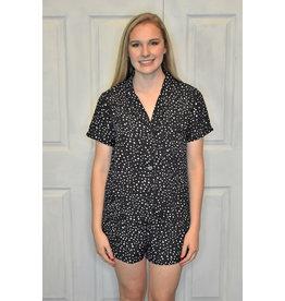 Lyla's: Clothing, Decor & More Polka Dot Pajama Set: Black