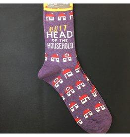 Lyla's: Clothing, Decor & More Butt Head of the Household Mens Socks