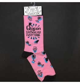 Lyla's: Clothing, Decor & More Queen Of Damn Near Everything Ladies Socks
