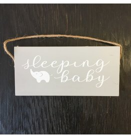Lyla's: Clothing, Decor & More Sleeping Baby Wooden Sign