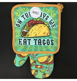 Lyla's: Clothing, Decor & More On Tuesday's We Eat Tacos Oven Mitt Set