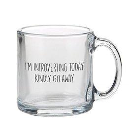 Lyla's: Clothing, Decor & More I'm Introverting Today Glass Mug