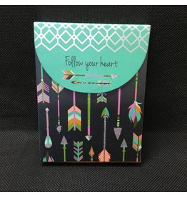 Lyla's: Clothing, Decor & More Follow Your Heart Mini Notepad