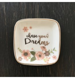 Lyla's: Clothing, Decor & More Chase Your Dreams Trinket Tray