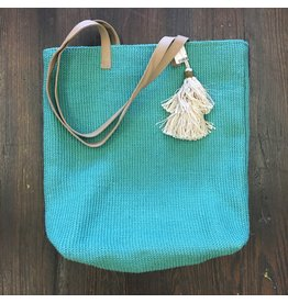Lyla's: Clothing, Decor & More Jute Tote Bag: Jade