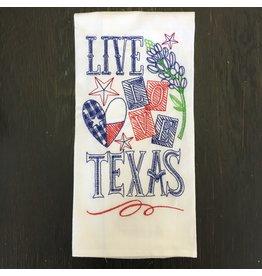 Lyla's: Clothing, Decor & More Texas Tea Towel: Live Love Texas