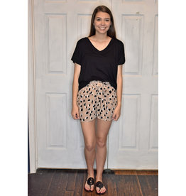 Lyla's: Clothing, Decor & More Wild N Out Taupe Leopard Shorts
