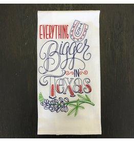 Lyla's: Clothing, Decor & More Texas Tea Towel: Bigger In Texas