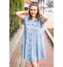 Lyla's: Clothing, Decor & More Denim Ruffle Dress
