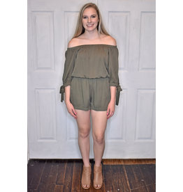 Lyla's: Clothing, Decor & More How Lucky are You Olive Romper
