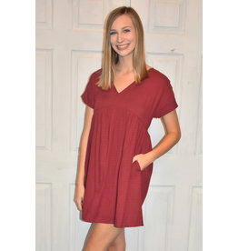 Lyla's: Clothing, Decor & More Call me Soon Burgundy Dress