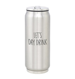 Lyla's: Clothing, Decor & More Let's Day Drink Large Stainless Steel Can