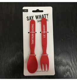 Lyla's: Clothing, Decor & More Lil' Hangry Fork/Spoon Set