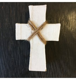 Lyla's: Clothing, Decor & More Wood Cross: White