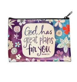 Lyla's: Clothing, Decor & More God Has Great Plans for You Coin Purse