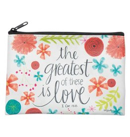 Lyla's: Clothing, Decor & More Greatest of these is Love Coin Purse