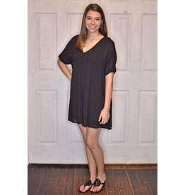 Lyla's: Clothing, Decor & More Feeling Free Babydoll Dress: Black